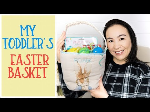 What is in my toddler's Easter basket | Dairy Free | 15 months old