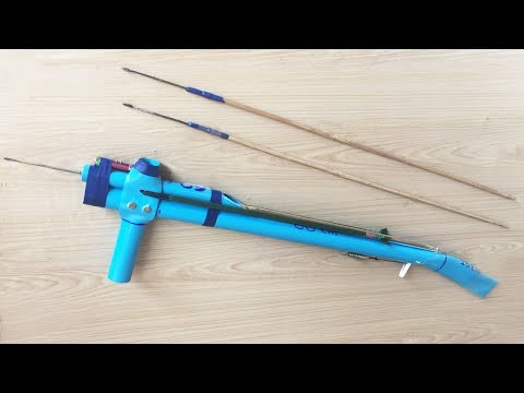 Awesome!! Smart Man Creative Gun Rubber Slingshot With Plastic Pipes In 500 Seconds