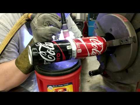 Production welding pop cans