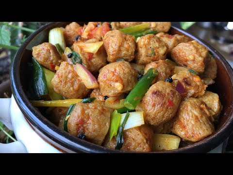 VEG CHOILA | VEGAN ✅  | Soyabean Choila | Masyura ko Choila | Yummy Food World 🍴 106