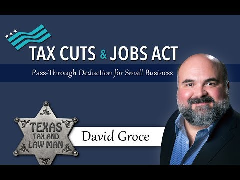 Pass-Through Deduction for Small Business: 2017 Tax Cuts and Jobs Act