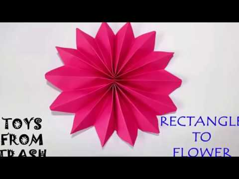 Rectangle to Flower   Kannada   Fun with Paper