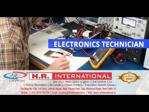 Urgently Required Of Electronics Technician For Saudi Arabia !! SELF SELECTION