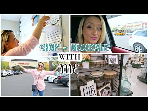 DECORATE WITH ME AND SHOP WITH ME | HOBBY LOBBY & HOMEGOODS