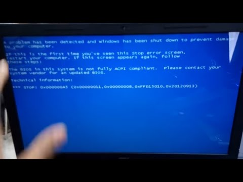 the bios in this system is not fully acpi compliant windows 7 dell