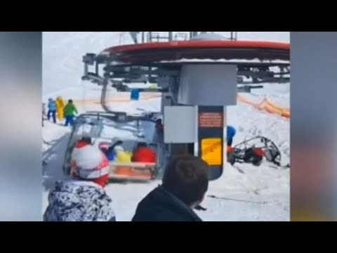 On cam: Terrifying moments at a ski resort in Georgia