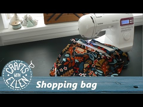 How to make a shopping bag   Sewing tutorial