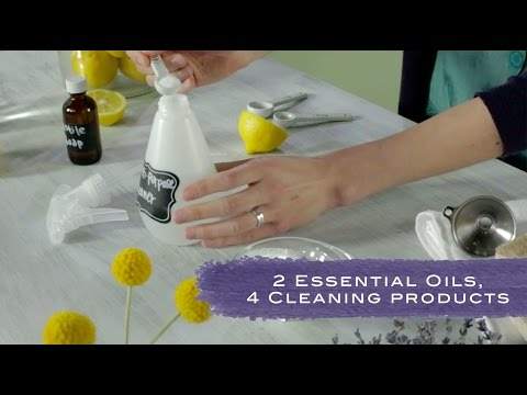 4 Homemade Cleaning Products With Essential Oils