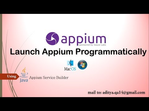 Start and Stop Appium Server Programmatically in Java using AppiumServiceBuilder