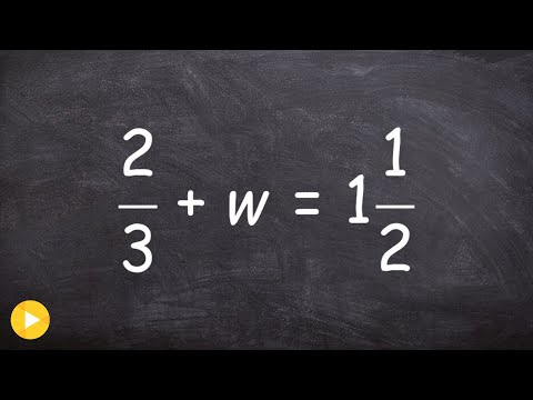 Solving a one step equation with a mixed number