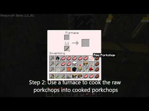 How To Get and Cook Porkchops in Minecraft