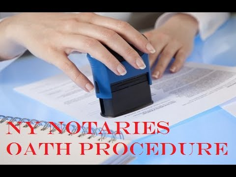 Does A NY Notary Watch People Sign A Document?  -Affidavits & Acknowledgements