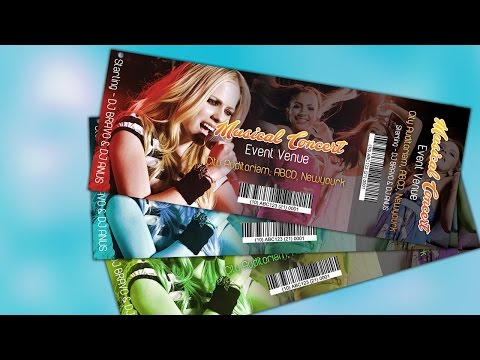 How to Create an Event Ticket | Photoshop CC Tutorial