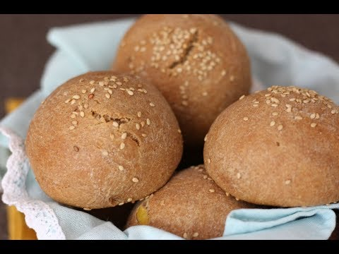 NO EGG & NO YEAST  WHOLE WHEAT SESAME ROLLS  WITH SWEET POTATO