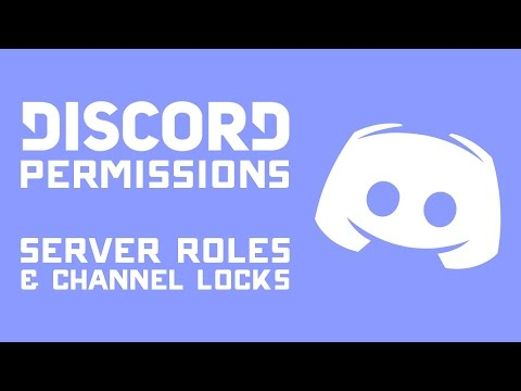 DISCORD Permissions Tutorial - Setting Up Server Roles & User Specific Channel Locks