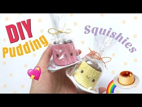 DIY Kawaii Pudding Squishy! | mishcrafts