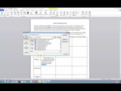Adding a clickable hyperlink in word