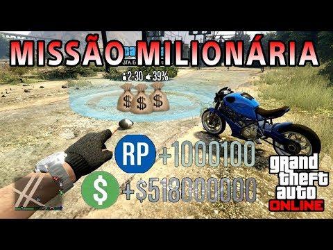 MISSÃO MILIONÁRIA, DINHEIRO + RP INFINITO NO GTA 5 ONLINE