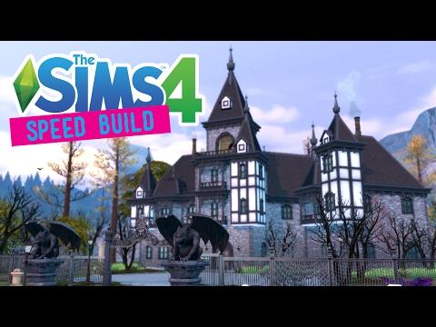The Sims 4 -Speed Build- Carlisle Manor (Gothic Victorian) - No CC -