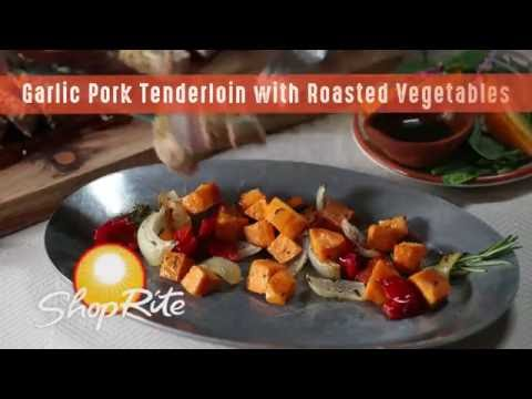 Garlic Pork Tenderloin with Roasted Vegetables