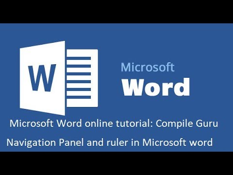 Navigation Panel and ruler in Microsoft word