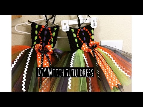 DIY Witch tutu dress for Halloween