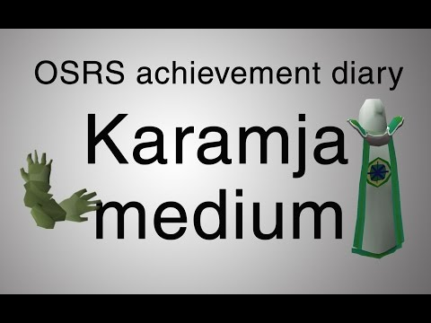 [OSRS] Karamja medium diary guide