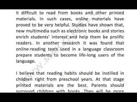 267  Online materials vs books to instill reading habits in children