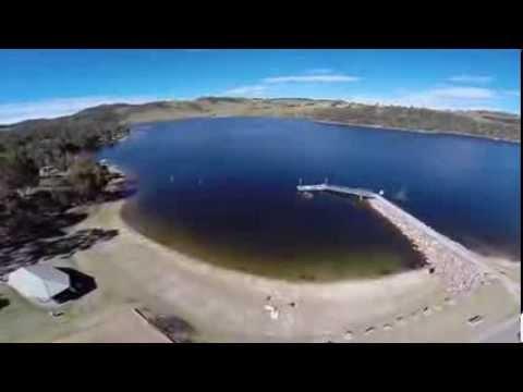 Aerial Gardens of stone & lake Lyell