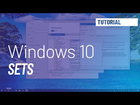 Windows 10 tutorial: enable or disable Sets on version 1809