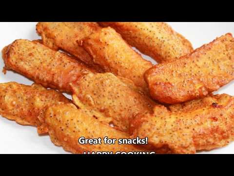 How to tutorial fried Plantains or bananas - very crispy batter