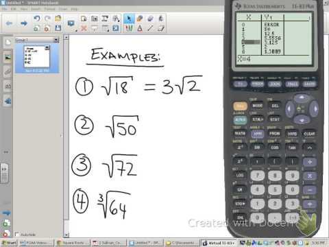 Simplifying radicals using a TI 83