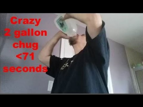World Record 2 gallon water chug in 70.7 seconds