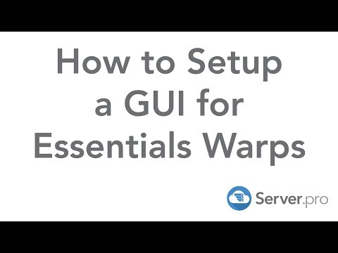 How to Setup a GUI for Essentials Warps - Server.pro