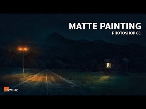 Photoshop Matte Painting  Dark Night fantasy   Manipulation  