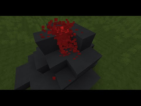 Minecraft how to make a volcano that erupts! Erupting