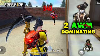Duo vs Squad Dominating 2 AWM Gameplay - Garena Free Fire- Total Gaming
