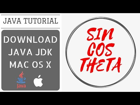 How to download and install Java JDK in Mac OS X - Java Tutorial 1