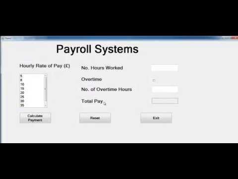 Visual Basic.Net Payroll Project using Listbox