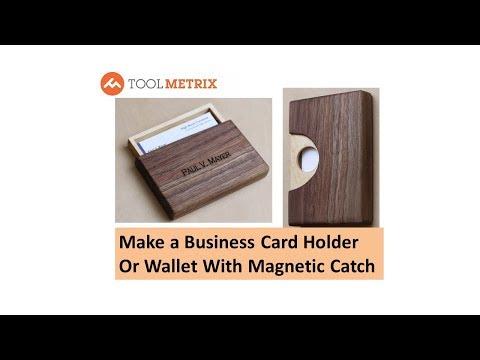 DIY Business Card Holder or Wooden Wallet