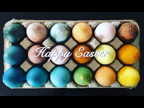 Naturally Dyed Eggs // HAPPY EASTER from ME to YOU!