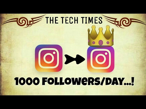 How to Get thousands of FOLLOWERS(2017) on INSTAGRAM per day for free?| 100% WORKING|