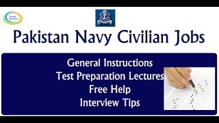 Pakistan Navy Civilian Jobs 2017 Guidelines & Preparation - Lecture 1 | How to Apply | Test Contents