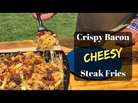 Best Ever Cheese Fries - Crispy Bacon Cheesy Steak Fries