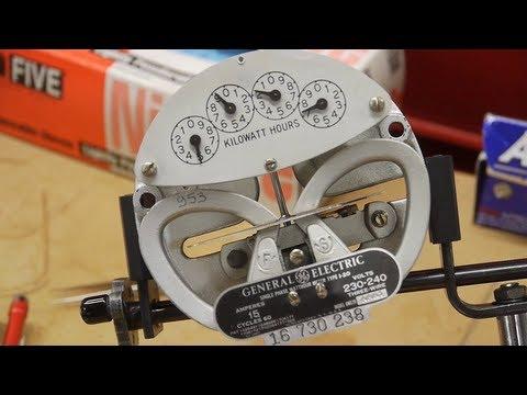 Explanation of how kilowatt-hour meters work (electromechanical)
