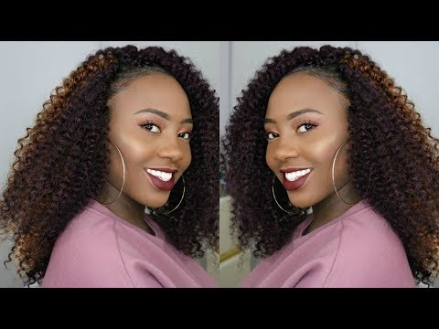 How To   KINKY CURL OUTRE X-PRESSION 4 IN 1 LOOP CROCHET TUTORIAL + Review   Divatress