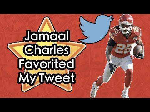 Jamaal Charles Favorited My Tweet! Madden Mobile 16! NFL!