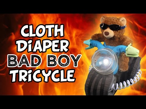 Cloth Diaper Cake (Part-1) DIY Tricycle Tutorial!