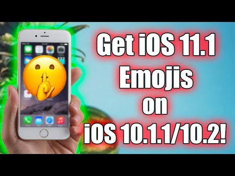Tutorial: GET iOS 11.1 EMOJIS ON 10.1.1/10.2!!! | Windows/Mac | Jailbreak Needed