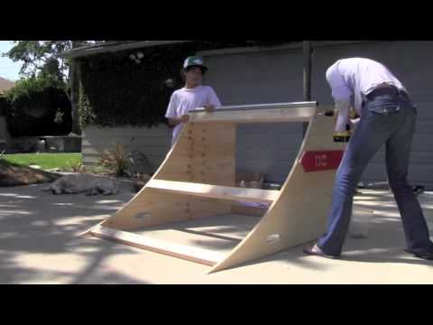 A Mom And Her Kids Build A Skate Ramp From O.C. Ramps!